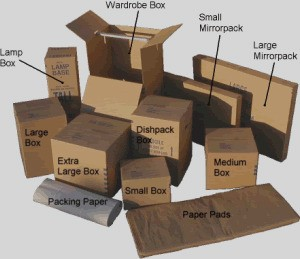 general packing boxes